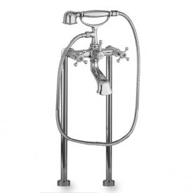Herzbach Anais floor-standing bath filler chrome