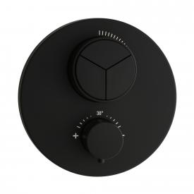 Herzbach DEEP BLACK PUSH thermostat, for 3 outlets