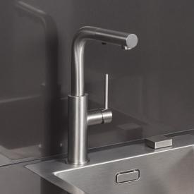 Herzbach Design iX monobloc kitchen mixer with adjustable spray