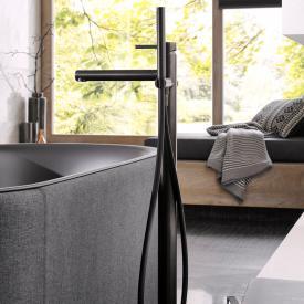 Herzbach Design iX PVD bath inlet column black steel