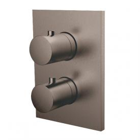 Herzbach Design iX PVD concealed thermostat square for 2 outlets, black steel