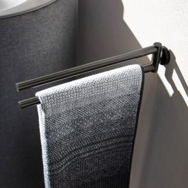 Herzbach Design iX PVD double towel bar black steel