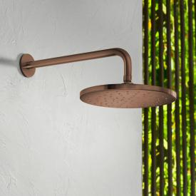 Herzbach Design iX PVD overhead rain shower copper steel