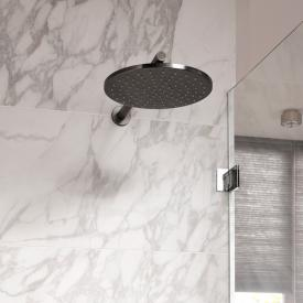 Herzbach Design iX PVD overhead rain shower black steel