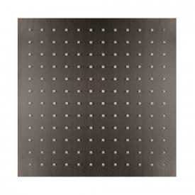 Herzbach Design iX PVD overhead rain shower square black steel