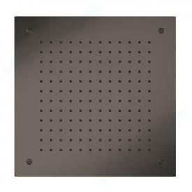 Herzbach Design iX PVD overhead rain shower for recessed ceiling installation black steel