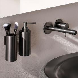 Herzbach Design iX PVD soap dispenser black steel