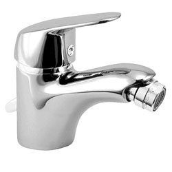 Herzbach Kappa single lever bidet mixer with pop-up waste set