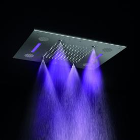 Herzbach Living Spa colour light rain shower SOUND for recessed ceiling installation 630 x 480 mm