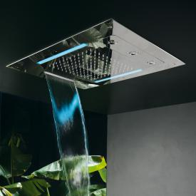 Herzbach Living Spa ceiling-mounted LED overhead shower, multi-functional 3 polished stainless steel