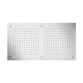 Herzbach Living Spa overhead rain shower for ceiling installation 700 x 380 mm brushed stainless steel