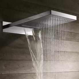 Herzbach Living Spa overhead shower, multi-functional 2 slim polished stainless steel