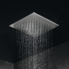 Herzbach Living Spa overhead rain shower for ceiling installation polished stainless steel