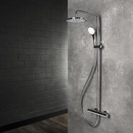 Herzbach Living Spa shower column with exposed,  thermostatic shower mixer