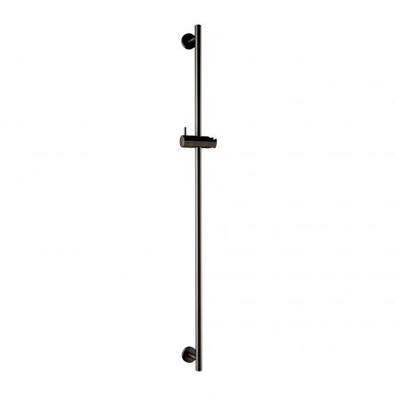Herzbach Design iX PVD shower rail, round black steel