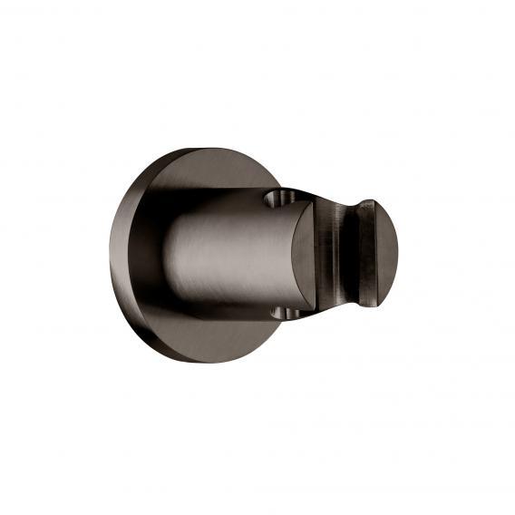 Herzbach Design iX PVD wall bracket, round black steel