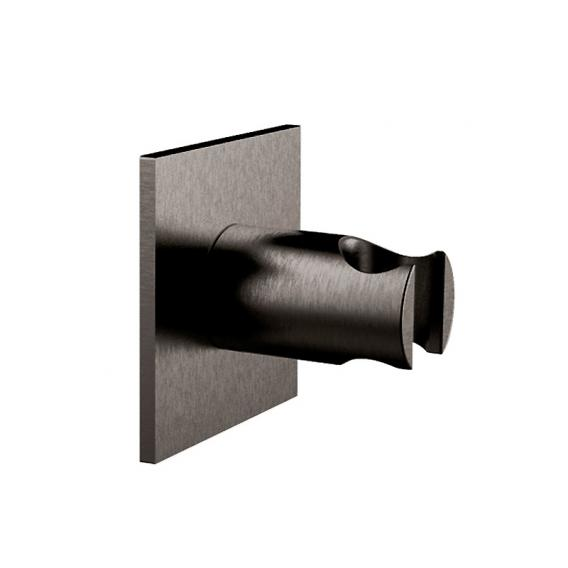 Herzbach Design iX PVD wall-mounted bracket seven square black steel