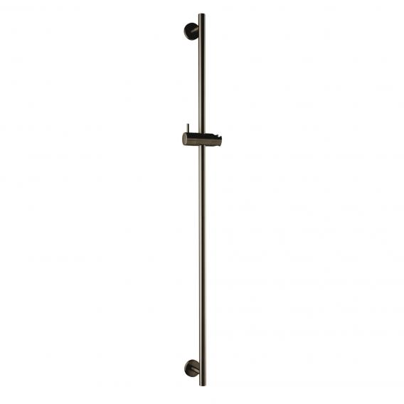 Herzbach Design iX PVD wall-mounted shower rail seven round black steel