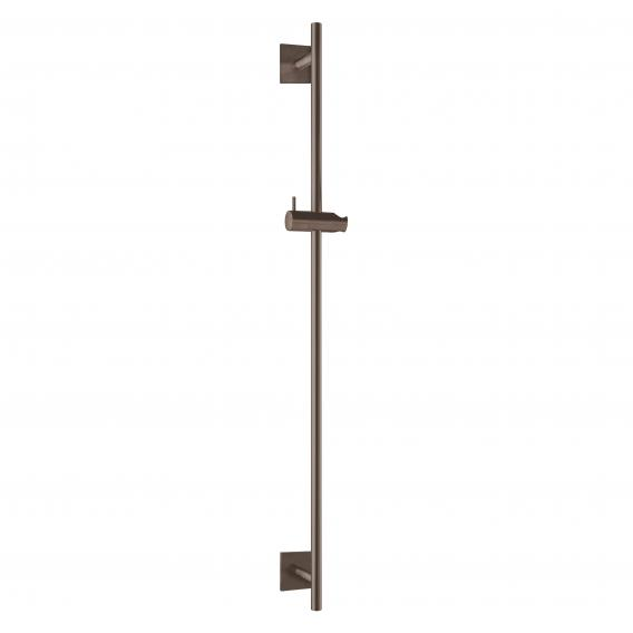 Herzbach Design iX PVD wall-mounted shower rail seven square black steel