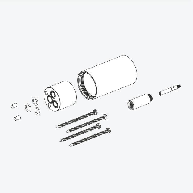 Herzbach DEEP BLACK extension for concealed single lever mixer, length: 30 mm matt black