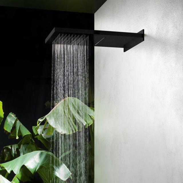 Herzbach DEEP BLACK overhead rain shower multi-function 2