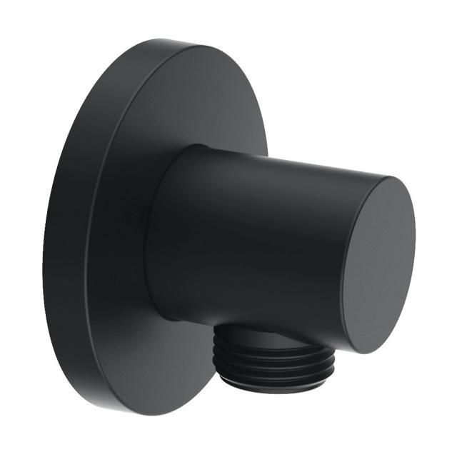 Herzbach DEEP BLACK shower wall elbow