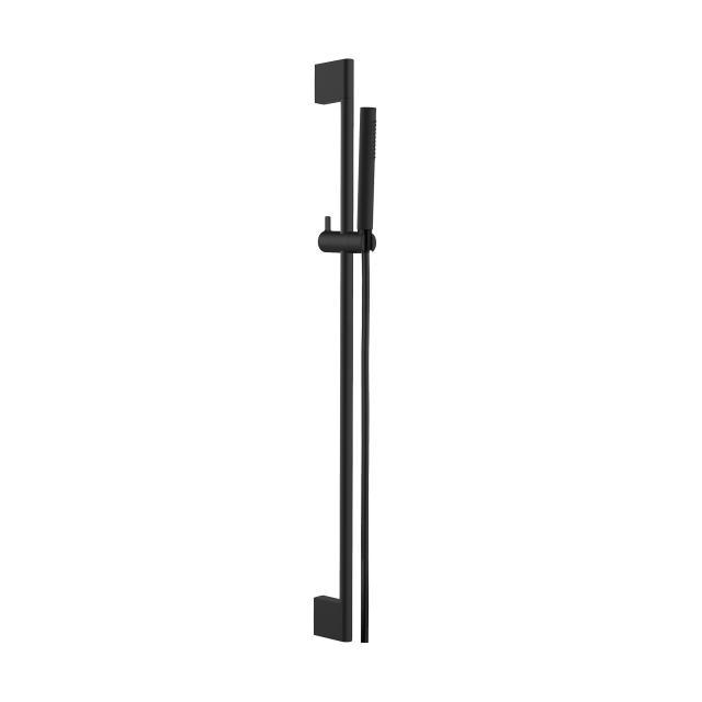 Herzbach DEEP BLACK wall-mounted shower rail set Slide M