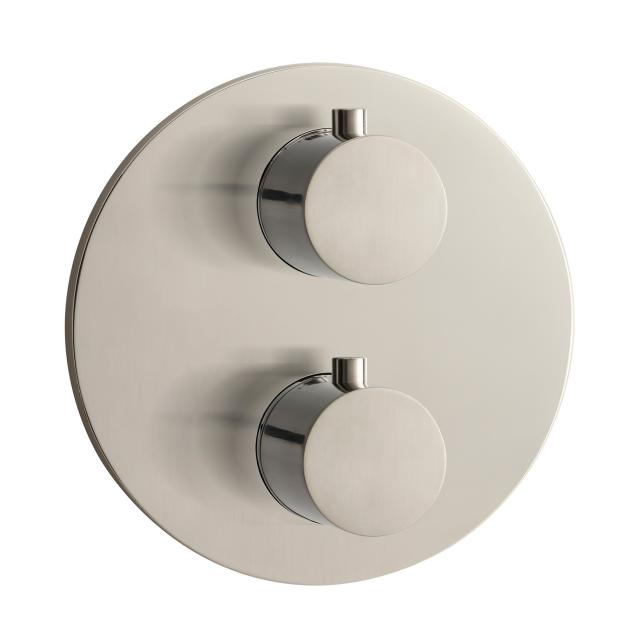 Herzbach Design iX concealed round thermostat for 2 outlets