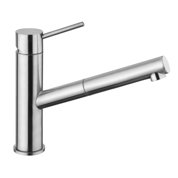 Herzbach Design iX kitchen fitting with pull-out spray