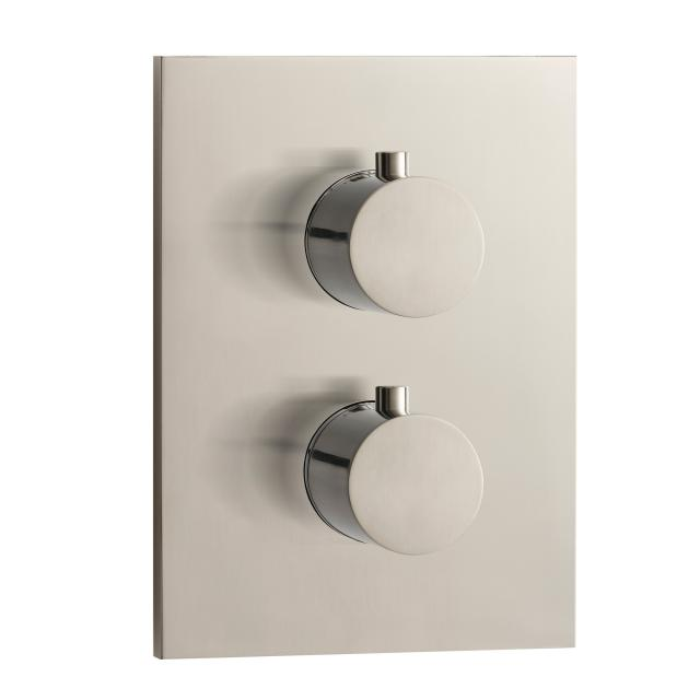 Herzbach Design iX concealed square thermostat for 2 outlets