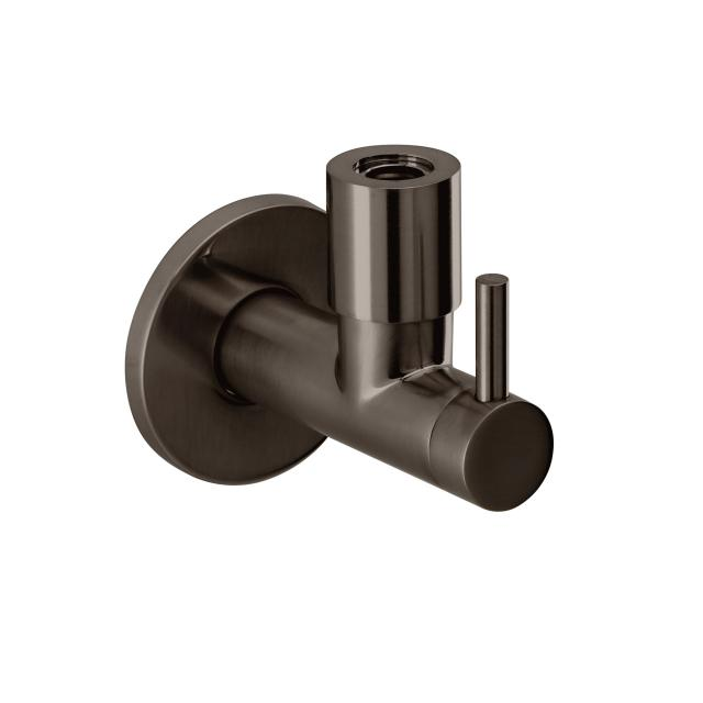 "Herzbach Design iX PVD design angle valve 1/2"" x 3/8"" black steel"