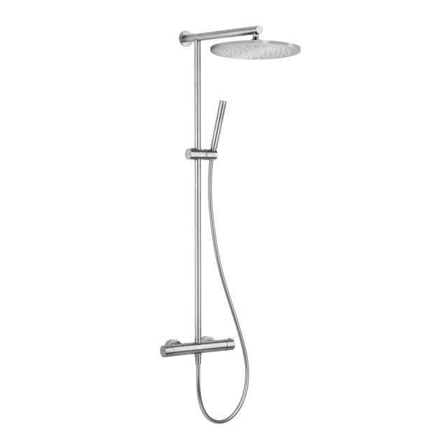 Herzbach Living Spa iX shower column with exposed, thermostatic shower mixer