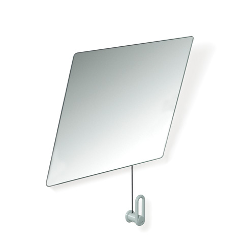 Hewi Series 801 adjustable mirror light grey