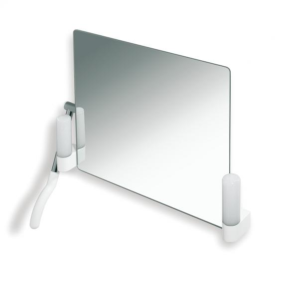 Hewi Series 802 LifeSystem adjustable mirror with lighting pure white