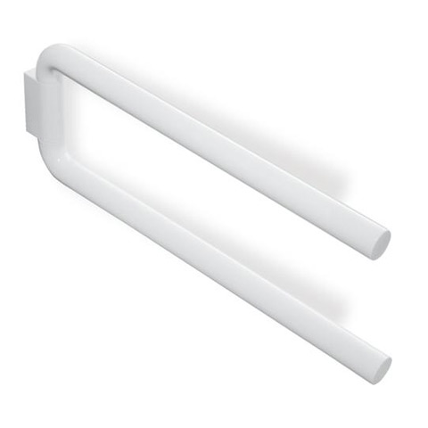 Hewi Series 477 double towel bar pure white