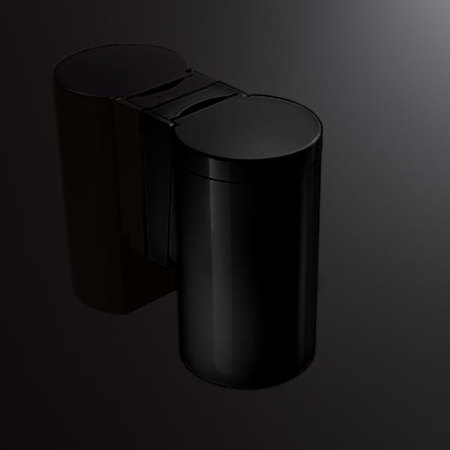 Hewi Series 477 waste bin with hinged lid jet black