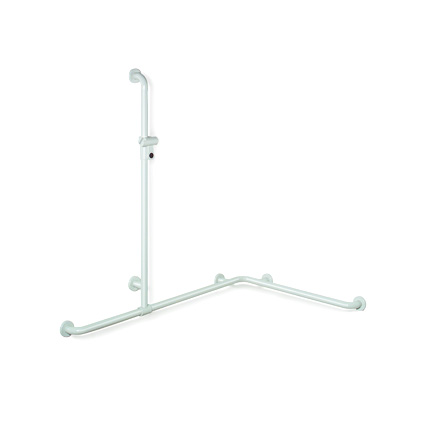 Hewi Series 801 shower grab rail with shower glider rail pure white