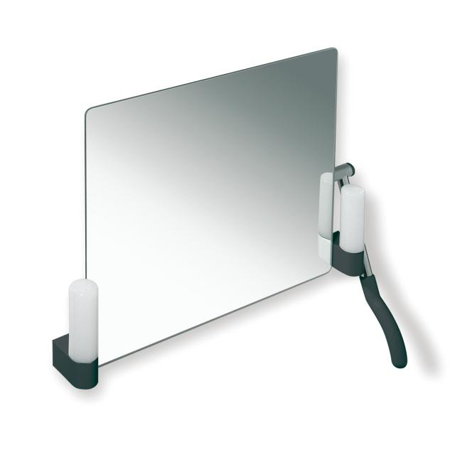 Hewi Series 802 LifeSystem adjustable mirror with lighting anthracite grey