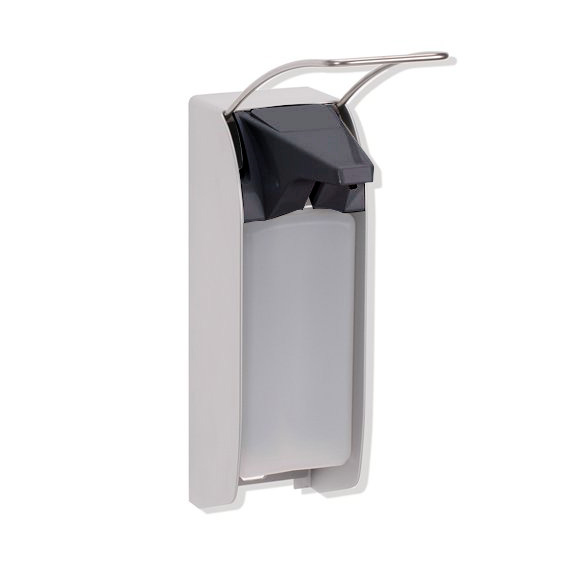 Hewi Series 805 disinfectant dispenser brushed stainless steel/anthracite grey