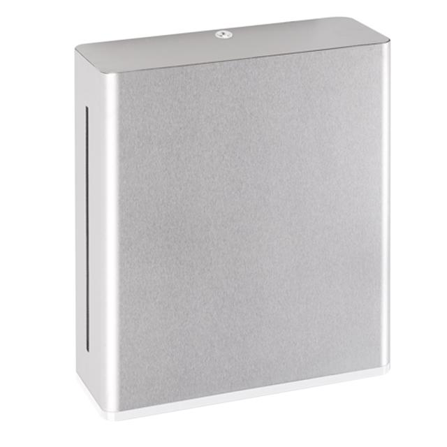 Hewi Series 805 paper towel dispenser brushed stainless steel/signal white