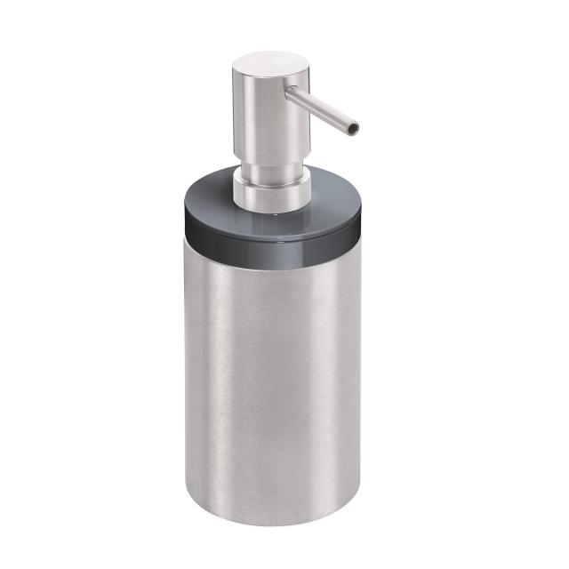 Hewi System 162 soap dispenser with holder brushed stainless steel/anthracite grey