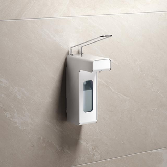 Hewi System 900 disinfectant or soap dispenser brushed stainless steel, volume: 500 ml