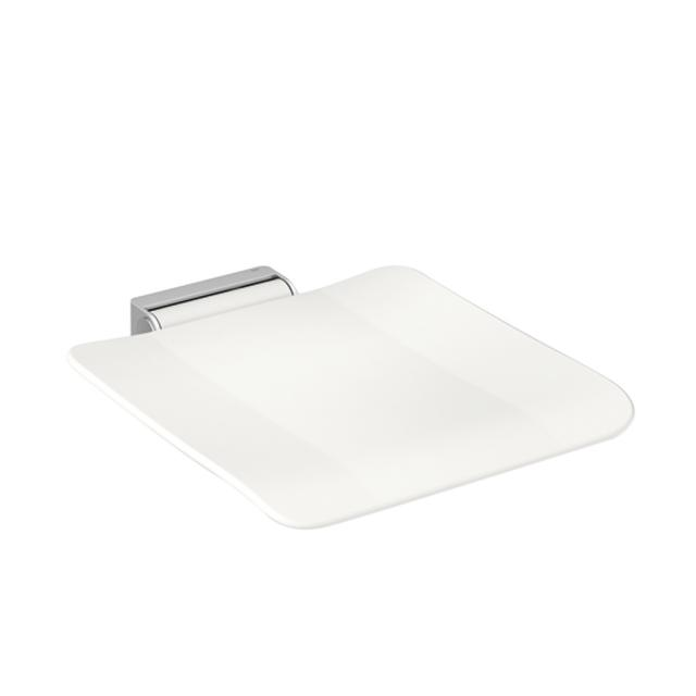 Hewi System 900 mobile hinged seat signal white/brushed stainless steel