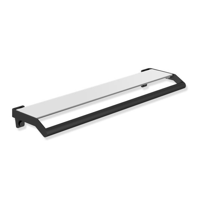 Hewi System 900 shelf with grab rail matt black