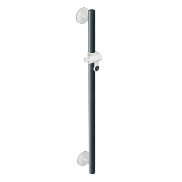 Hewi Universal shower rail signal white/anthracite grey