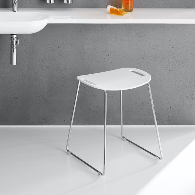 Hewi Universal shower stool signal white
