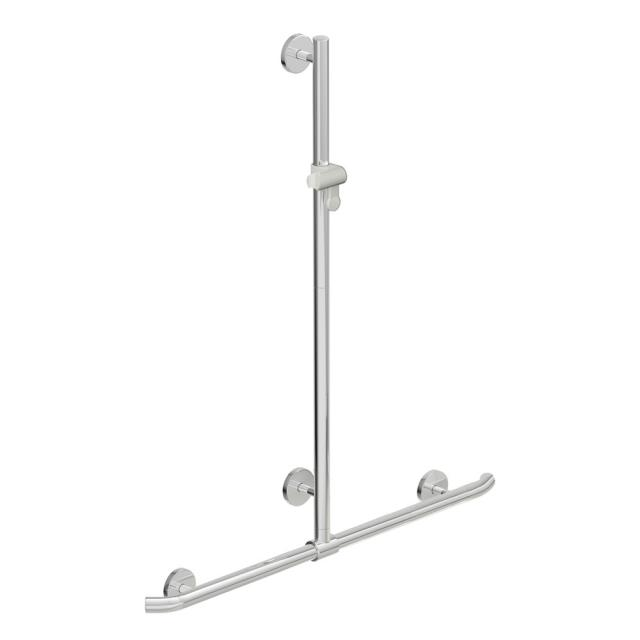 Hewi Warm Touch shower grab rail with adjustable shower rail signal white