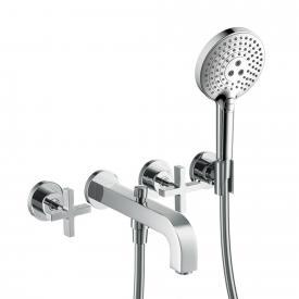 AXOR Citterio three hole bath mixer with cross handles chrome