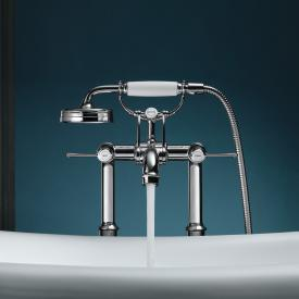 AXOR Montreux floorstanding, two handle bath fitting with levers chrome