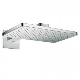 AXOR ShowerSolutions 460 / 300 1jet overhead shower with shower arm, with square escutcheon chrome